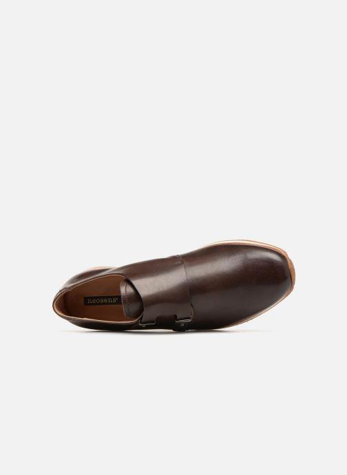 Zapato con hebilla Neosens Greco S498 Marrón vista lateral izquierda