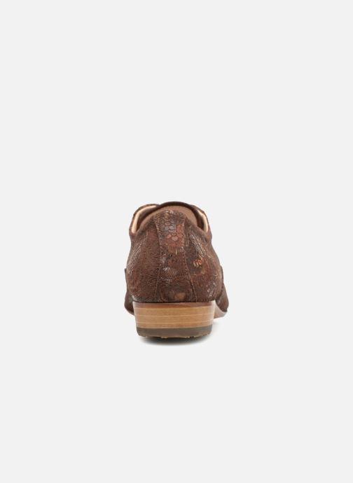 Zapatos con cordones Neosens Sultana S548 Marrón vista lateral derecha