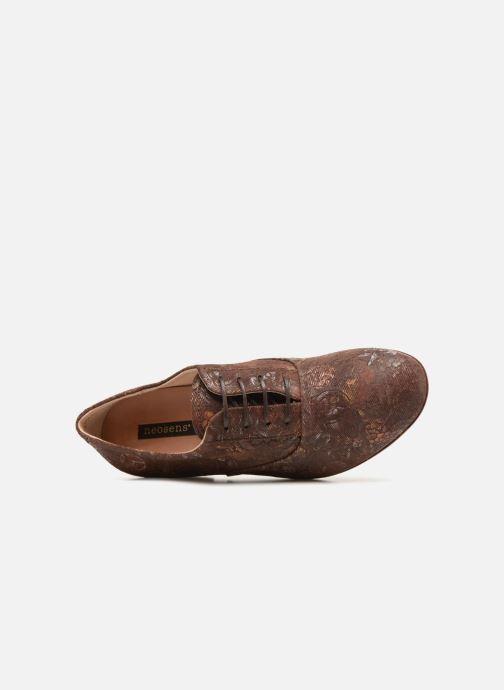 Zapatos con cordones Neosens Sultana S548 Marrón vista lateral izquierda