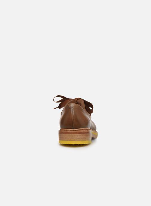 Zapatos con cordones Neosens Albilla S926 Marrón vista lateral derecha