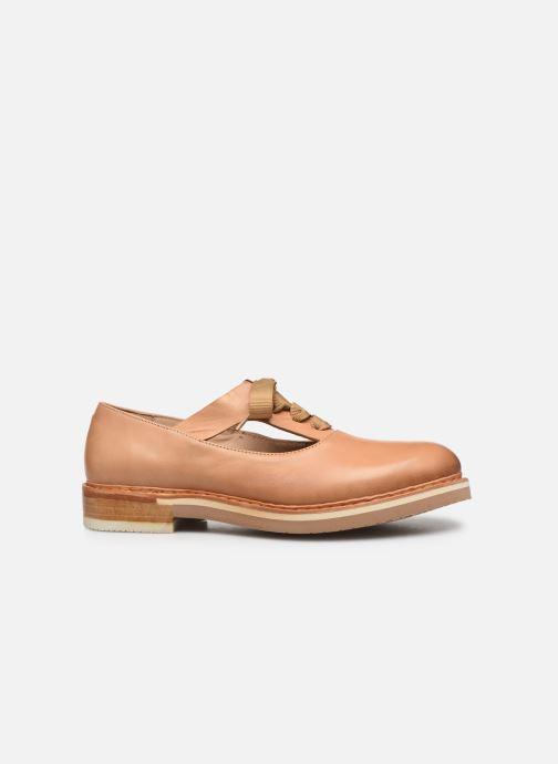 Zapatos con cordones Neosens Albilla S926 Beige vistra trasera