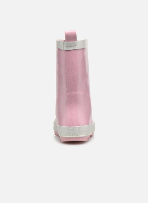 Botas Be only Ondine Rose Glitters Rosa vista lateral derecha