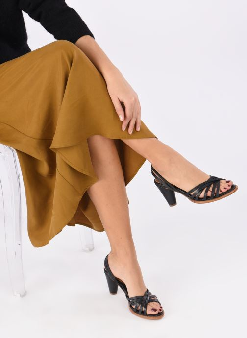 Sandales et nu-pieds Neosens MONTUA S967 Noir vue bas / vue portée sac