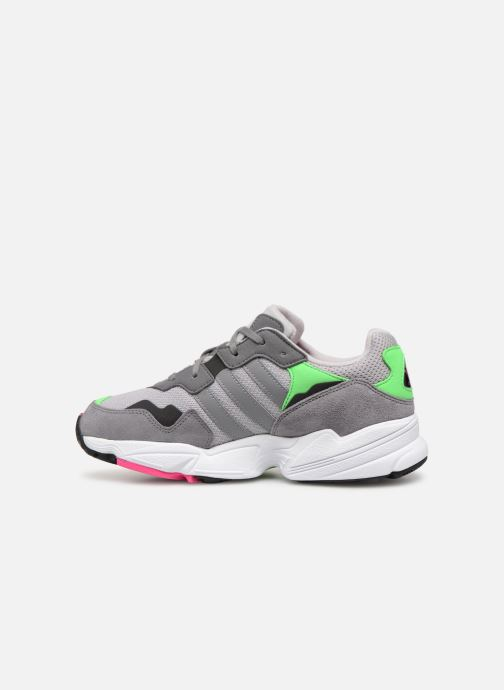 Baskets adidas originals Yung-96 J Gris vue face