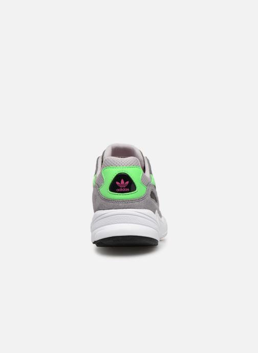 Baskets adidas originals Yung-96 J Gris vue droite