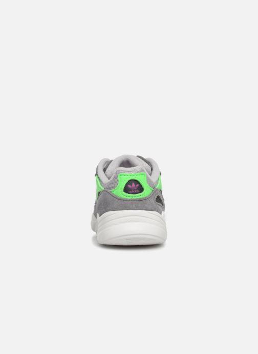 Baskets adidas originals Yung-96 EL I Gris vue droite