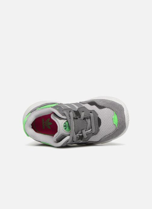 Baskets adidas originals Yung-96 EL I Gris vue gauche