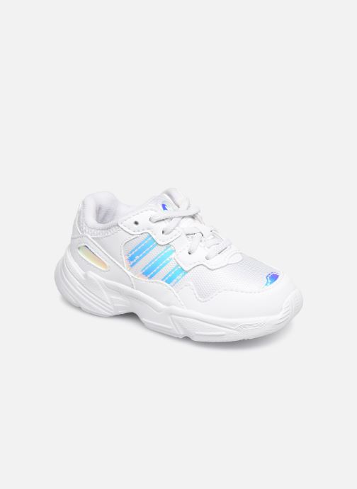 Baskets adidas originals Yung-96 EL I Blanc vue détail/paire