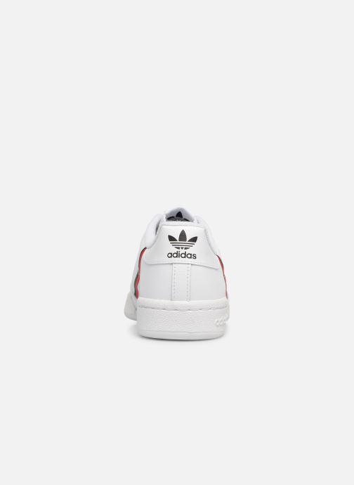 Baskets adidas originals Continental 80 J Blanc vue droite