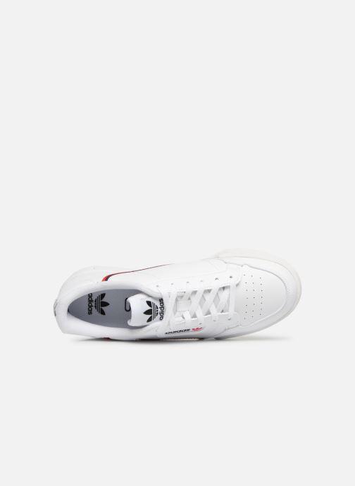 Sneaker adidas originals Continental 80 J weiß ansicht von links