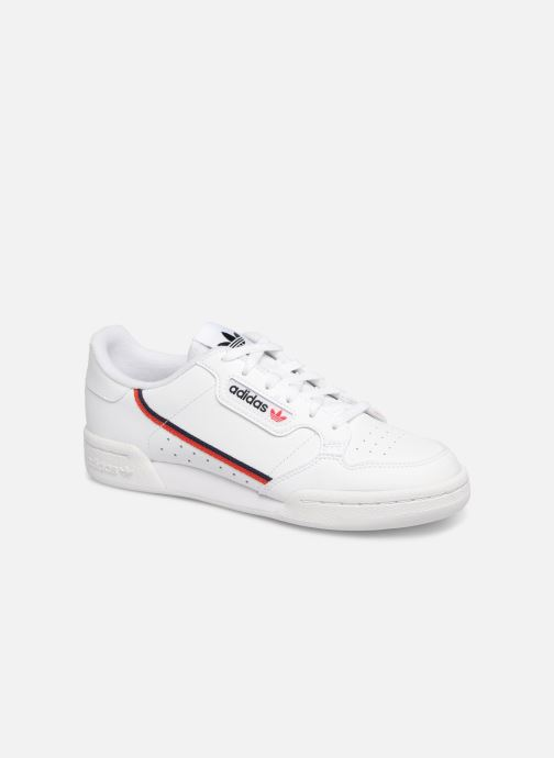 hot sales 56842 99a46 Baskets adidas originals Continental 80 J Blanc vue détail paire