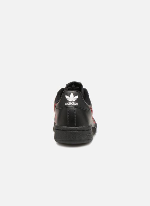 Baskets Adidas Originals Continental 80 J Noir vue droite