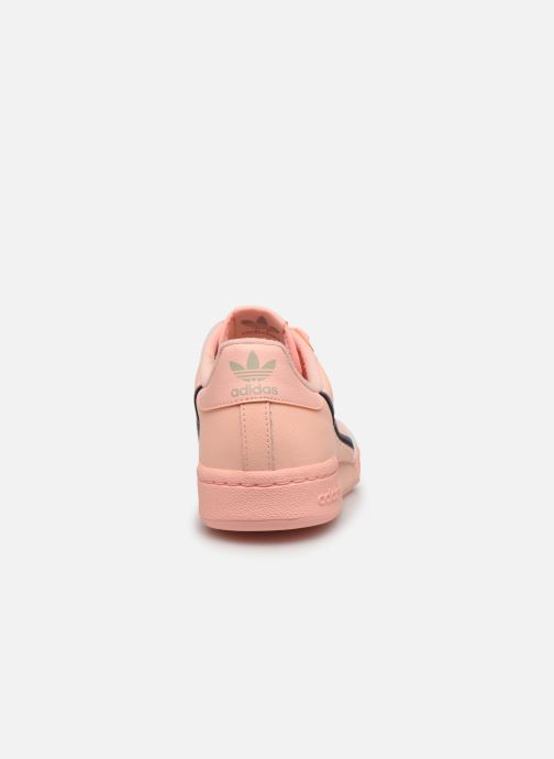 Baskets adidas originals Continental 80 J Orange vue droite