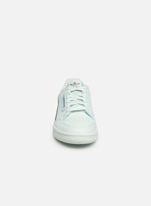 Sneaker adidas originals Continental 80 J blau schuhe getragen