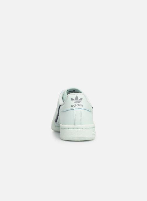 Sneakers adidas originals Continental 80 J Blauw rechts