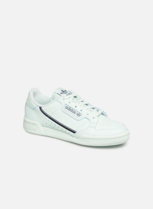 Baskets adidas originals Continental 80 J Bleu vue détail/paire