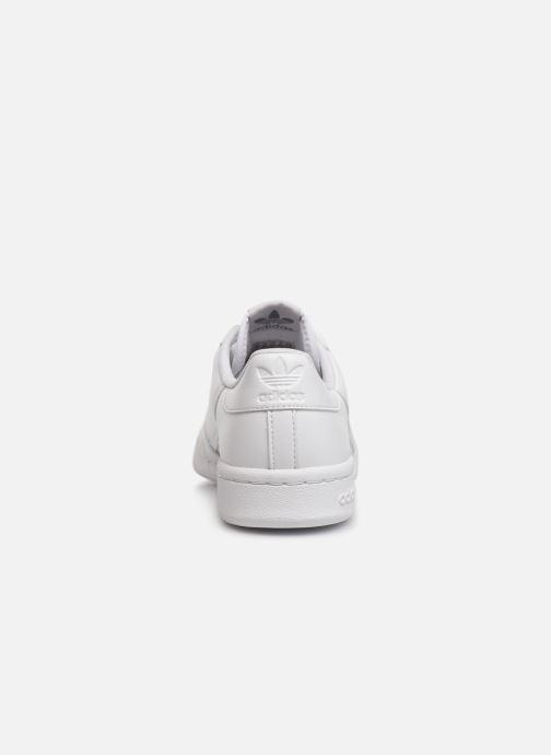 Sneakers adidas originals Continental 80 J Wit rechts