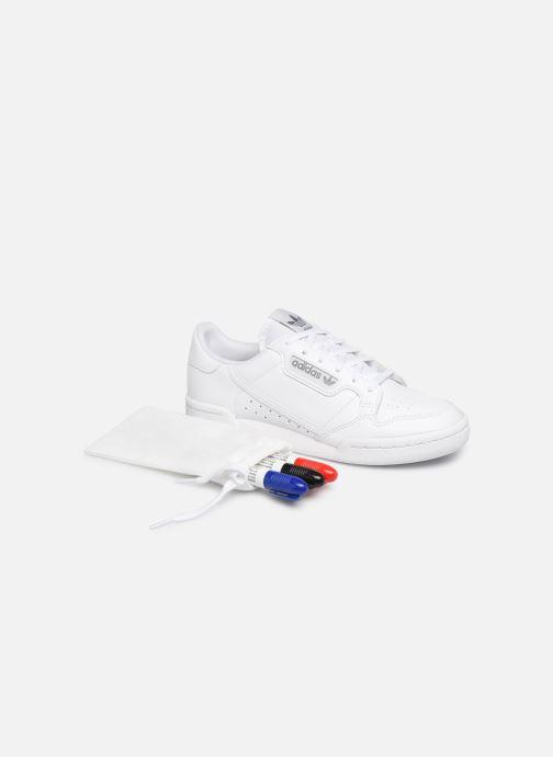 Sneakers adidas originals Continental 80 J Wit detail