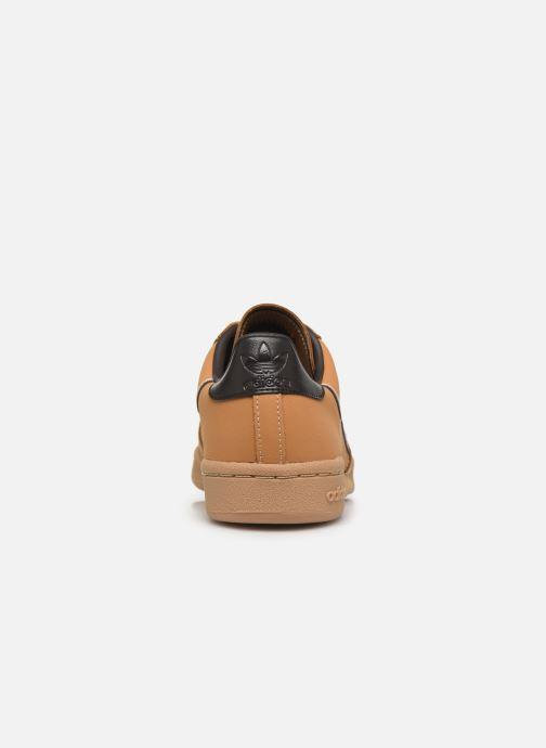 Baskets adidas originals Continental 80 J Marron vue droite
