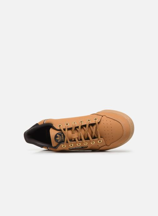 Trainers adidas originals Continental 80 J Brown view from the left