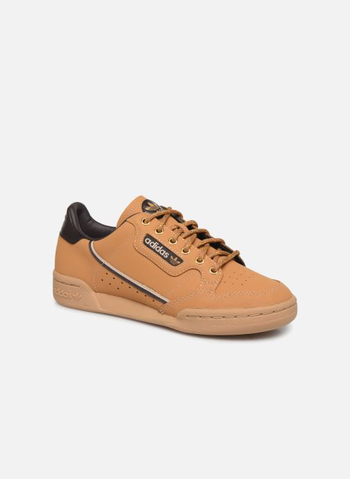 Trainers adidas originals Continental 80 J Brown detailed view/ Pair view