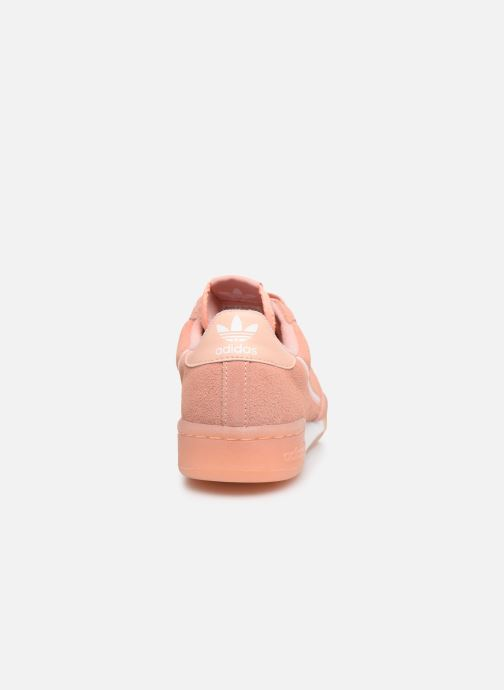 Baskets adidas originals Continental 80 J Rose vue droite