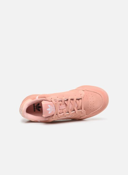 Baskets adidas originals Continental 80 J Rose vue gauche