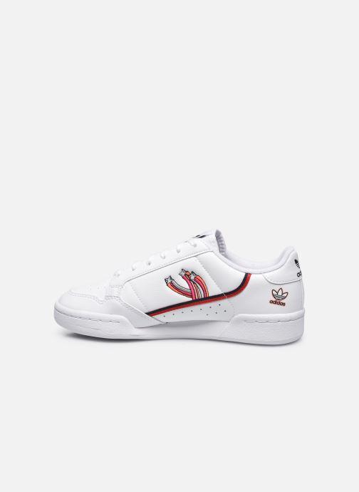 Sneakers adidas originals Continental 80 J Hvid se forfra