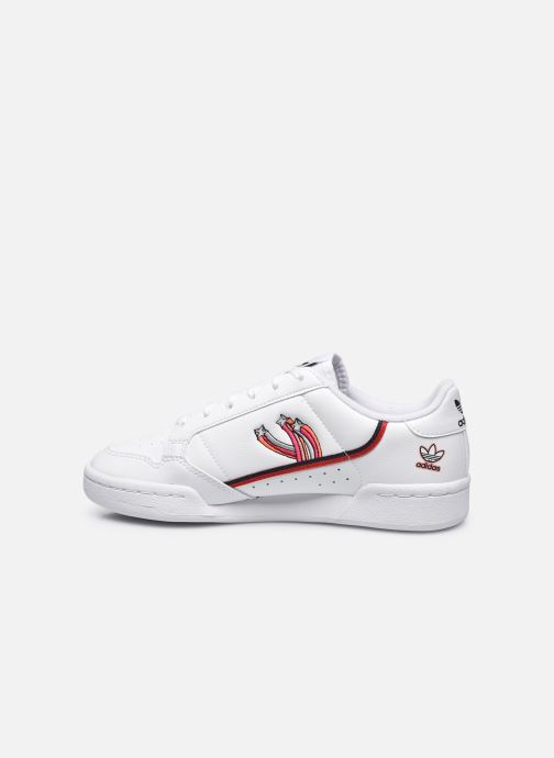 Sneakers adidas originals Continental 80 J Wit voorkant