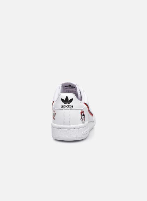 Sneakers adidas originals Continental 80 J Hvid Se fra højre