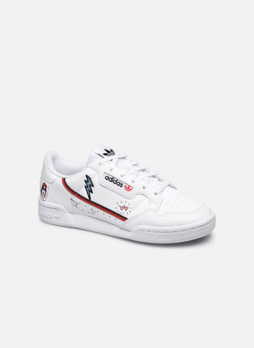 Baskets adidas originals Continental 80 J Blanc vue détail/paire