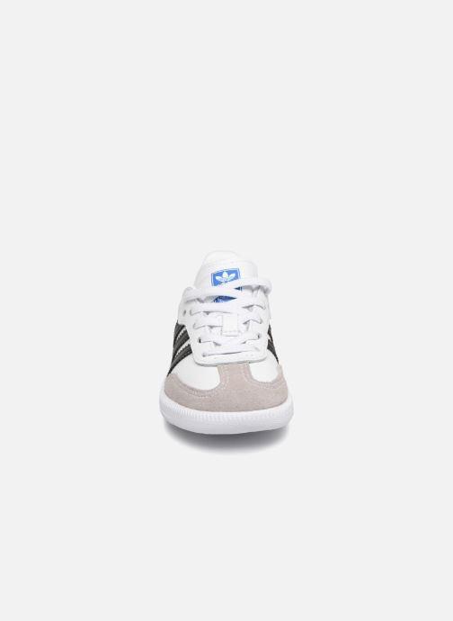 Baskets adidas originals Samba OG EL I Blanc vue portées chaussures