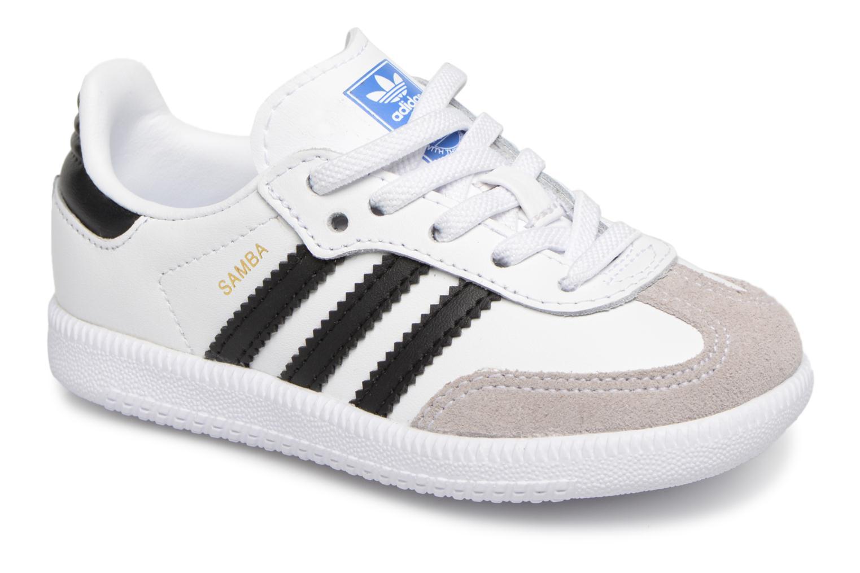 Baskets Adidas Originals Samba OG EL I Blanc vue détail/paire