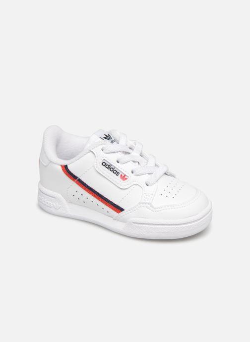 Baskets adidas originals Continental 80 I Blanc vue détail/paire