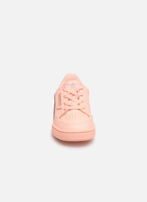 Baskets adidas originals Continental 80 I Orange vue portées chaussures