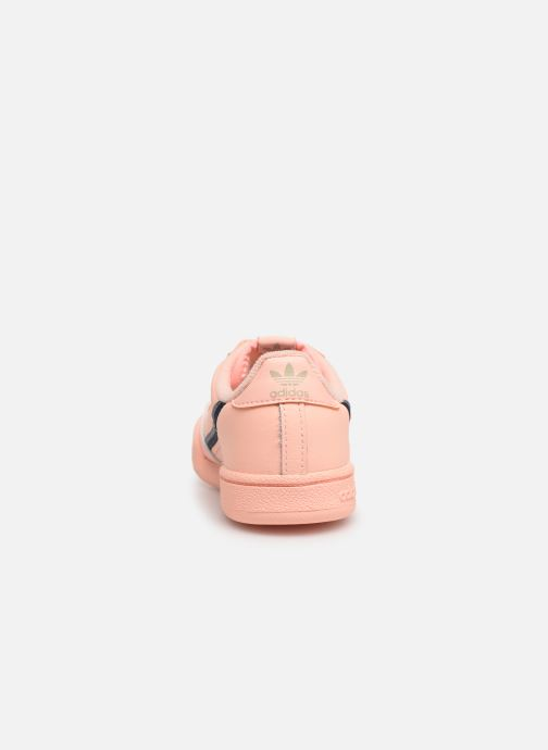 Baskets adidas originals Continental 80 I Orange vue droite