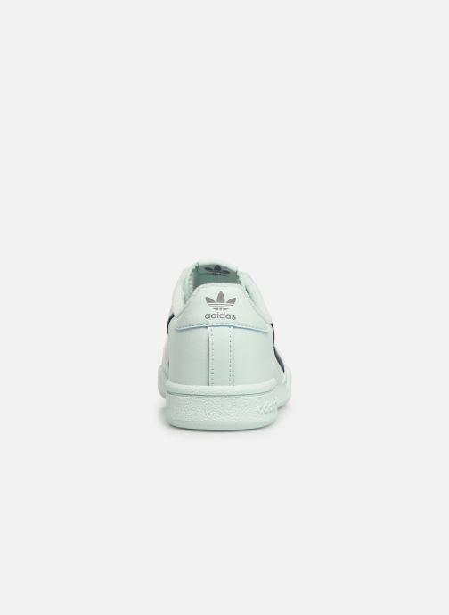 Sneakers adidas originals Continental 80 C Blauw rechts