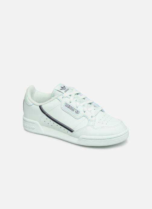 hot sales 4bbd9 d571f Sneakers adidas originals Continental 80 C Azzurro vedi dettaglio paio. Sneakers  adidas originals Continental 80 C Azzurro modello indossato