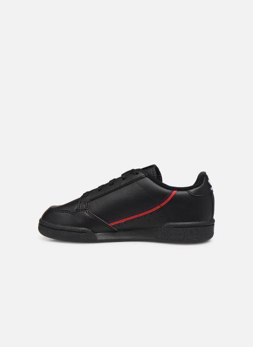 Baskets adidas originals Continental 80 C Noir vue face