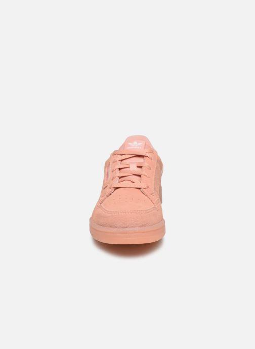 Baskets adidas originals Continental 80 C Rose vue portées chaussures