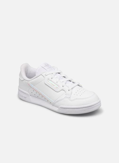 Baskets adidas originals Continental 80 C Blanc vue détail/paire
