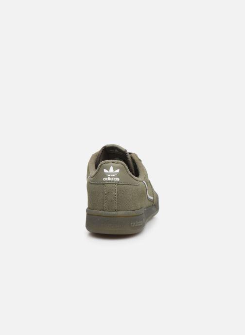 Baskets adidas originals Continental 80 C Vert vue droite