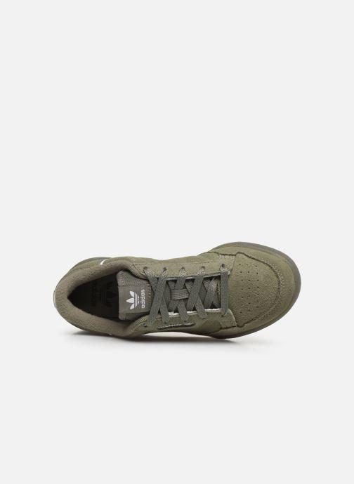 Baskets adidas originals Continental 80 C Vert vue gauche