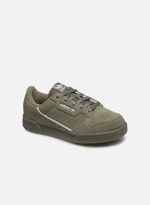 Baskets adidas originals Continental 80 C Vert vue détail/paire
