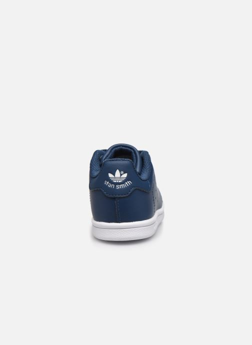 Deportivas adidas originals Stan Smith EL I Azul vista lateral derecha