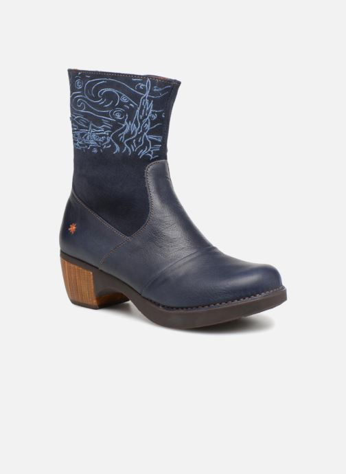 Ankle boots Art Zundert 1016 Blue detailed view/ Pair view