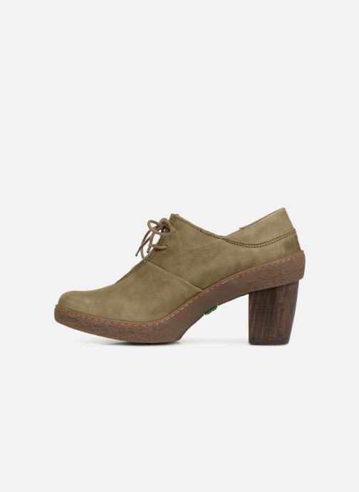 Zapatos con cordones El Naturalista Lichen NF70 Verde vista de frente