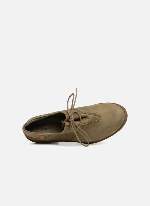 Zapatos con cordones El Naturalista Lichen NF70 Verde vista lateral izquierda