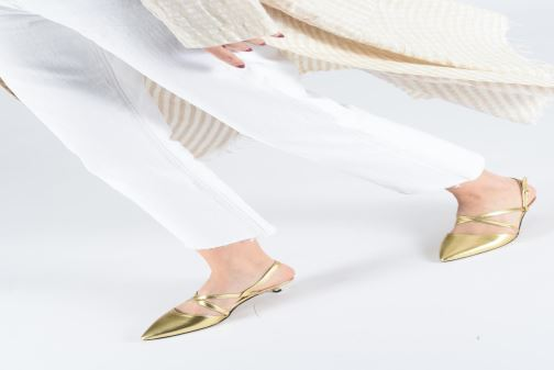 Ballet pumps Made by SARENZA Pastel Affair Ballerines #1 Bronze and Gold view from underneath / model view