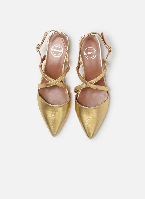 Bailarinas Made by SARENZA Pastel Affair Ballerines #1 Oro y bronce vista del modelo